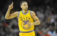 Steph Curry gets revenge on LeBron James by knocking him down & hitting the 3 ball