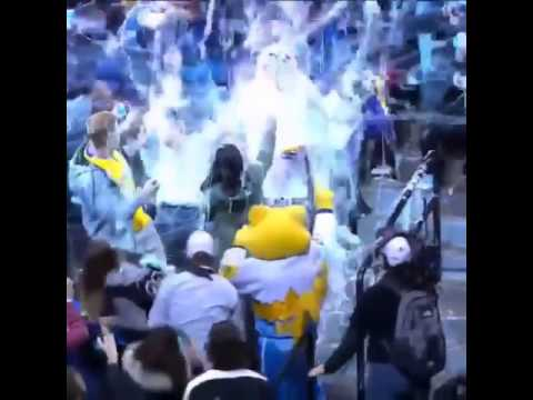 Nuggets mascot Rocky savagely attacks a Memphis Grizzlies fan