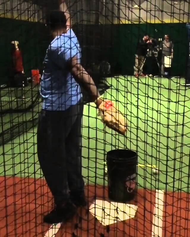 Oakland A's prospect BJ Boyd dabs & catches fastball at the same time