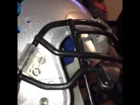 Panthers safety Roman Harper cracked his helmet trying to tackle Marshawn Lynch