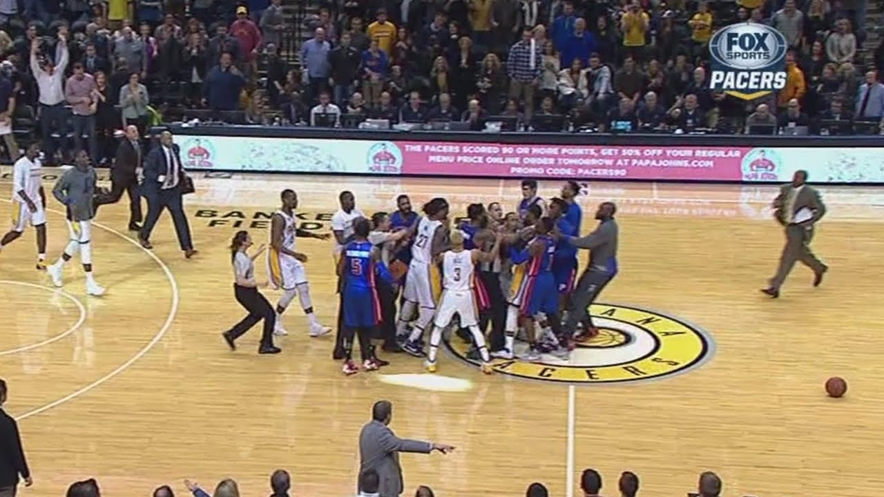 Paul George & Marcus Morris get into a scuffle at end of the game