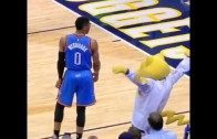 Russell Westbrook was pissed at the Denver Nuggets mascot