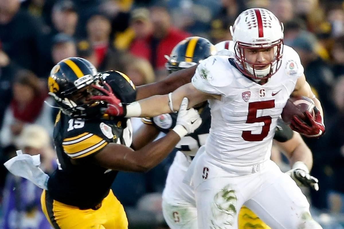 Stanford fan bombs Christian McCaffrey's Rose Bowl interview