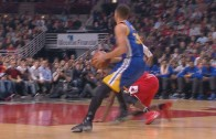 Stephen Curry drops E'twaun Moore & hits the jumper