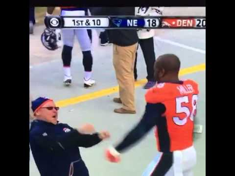 Von Miller & linebacker coach Fred Pagac break out the moves