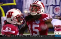 Wisconsin WR Robert Wheelwright with an amazing one handed grab