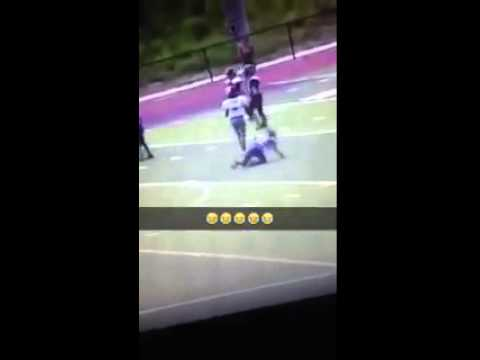 Youth football player gets body slammed twice
