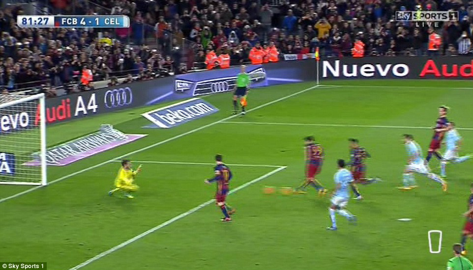 Lionel Messi's rare penalty kick assist