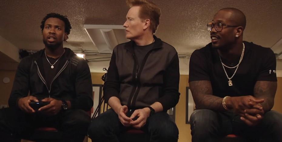 Von Miller, Marshawn Lynch & Josh Norman play video game