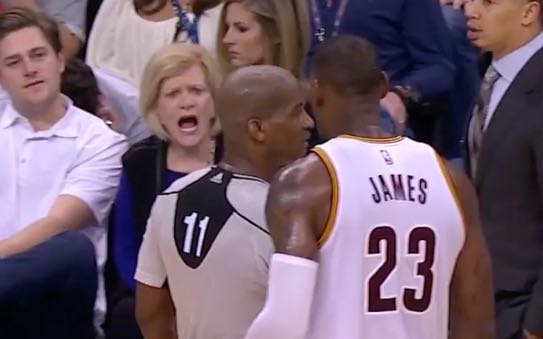 Older woman tells LeBron James to