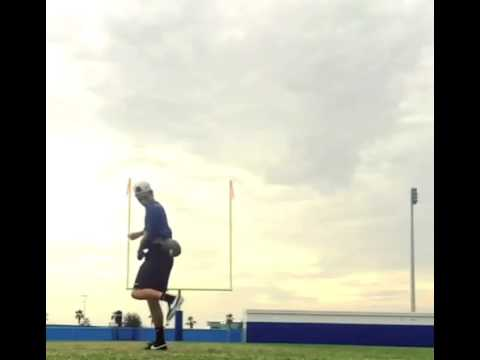 Amazing field goal trick shot by Brandon Sweeney
