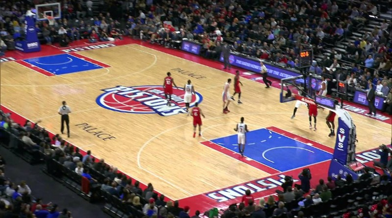 Andre Drummond sinks the longest shot of the NBA season