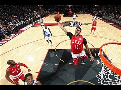 Anthony Davis throw down a major alley-oop slam at All Star