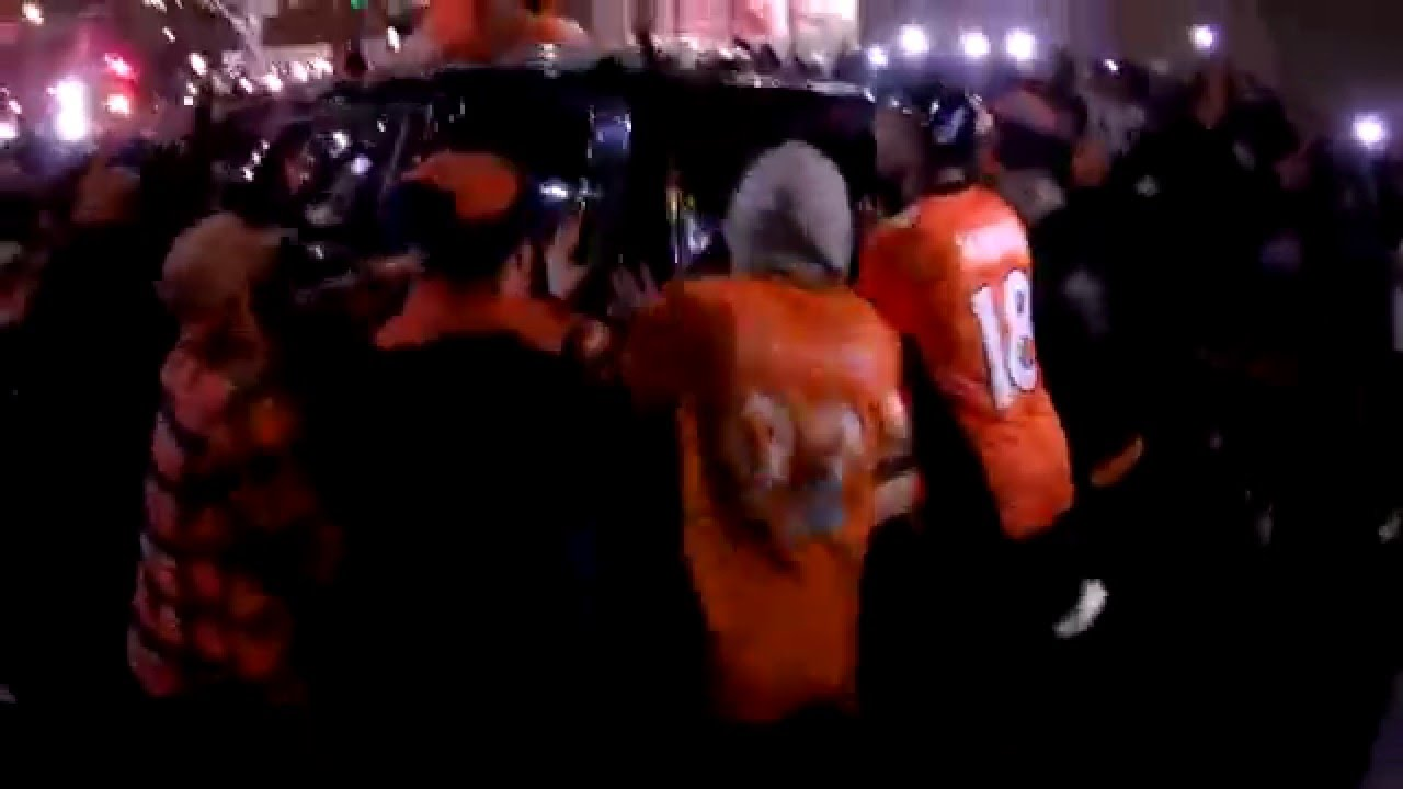 Broncos' Super Bowl victory party included a riot