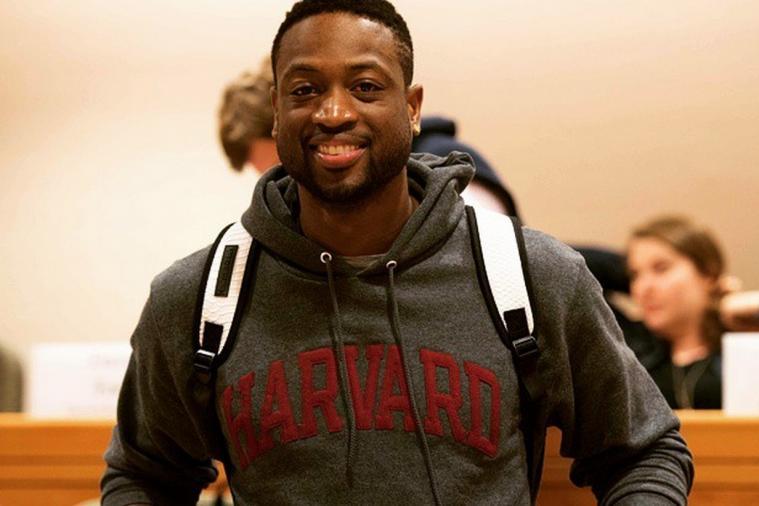 Dwyane Wade speaks to Harvard Business School students