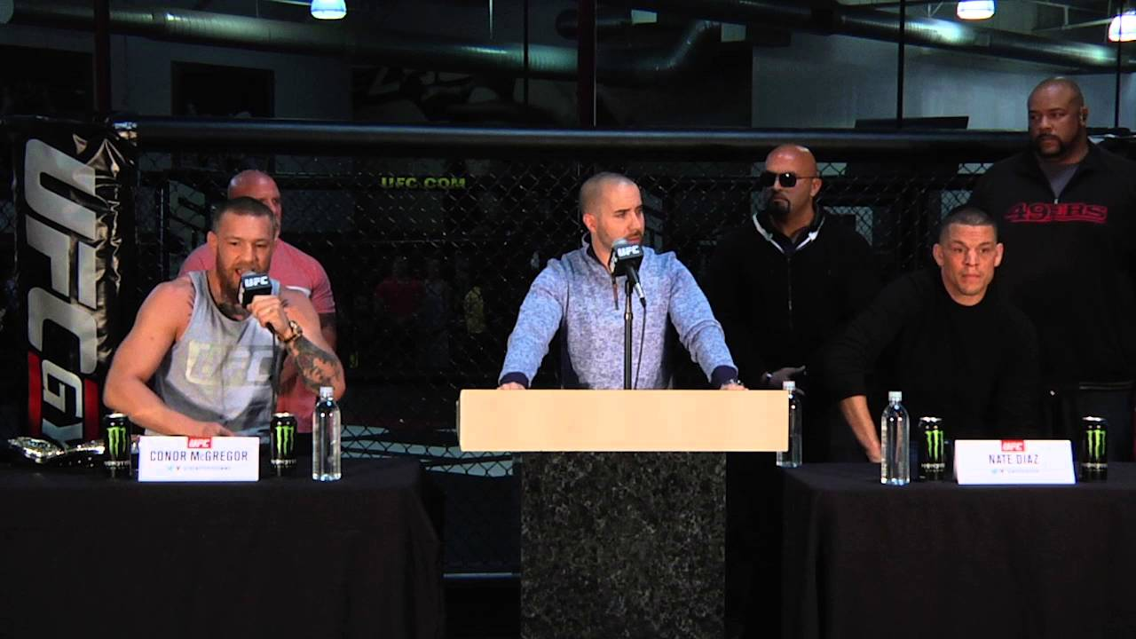 Conor McGregor & Nate Diaz fire shots at each other in press conference