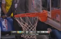 DeAndre Jordan's slam dunk literally breaks the rim