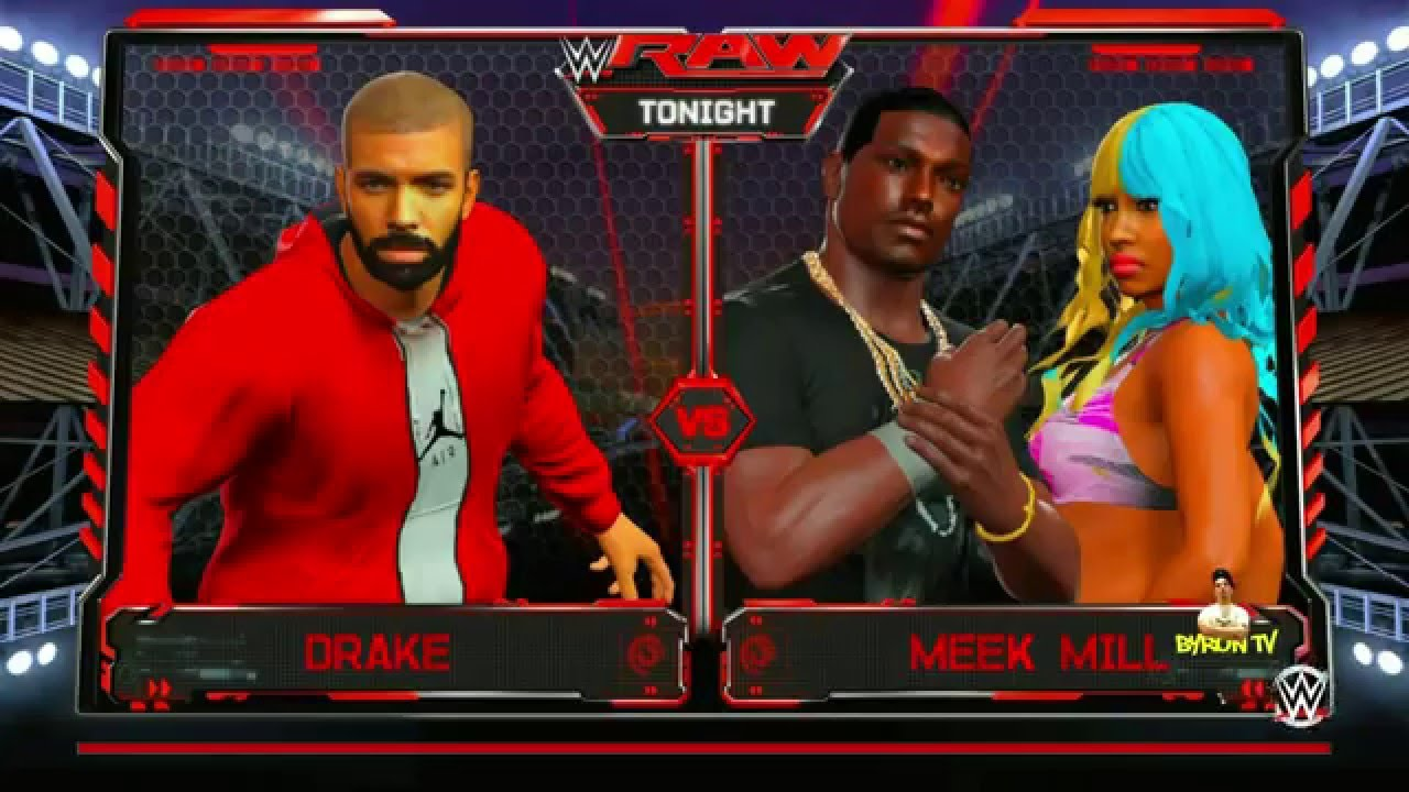 Drake vs. Meek Mill wrestling match in WWE 2K16