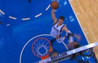 Dwight Powell throws down the massive slam on the Timberwolves