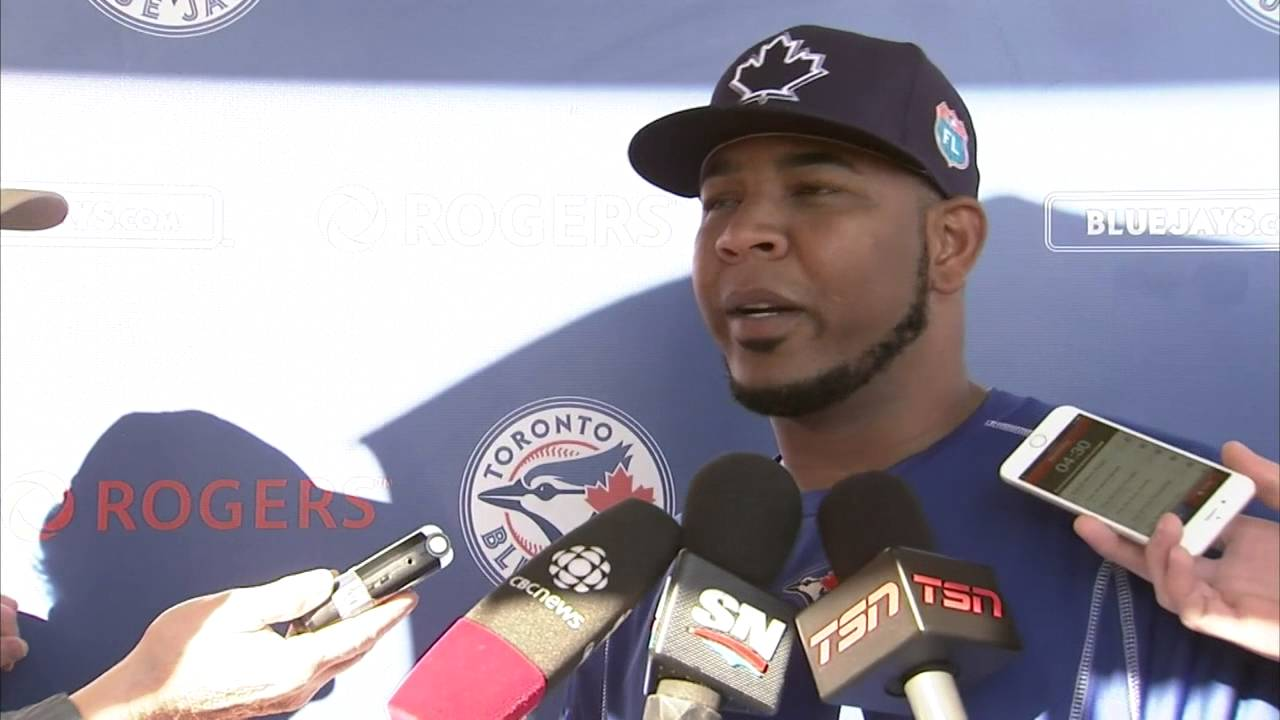 Edwin Encarnacion jokes about contract talks with the Blue Jays