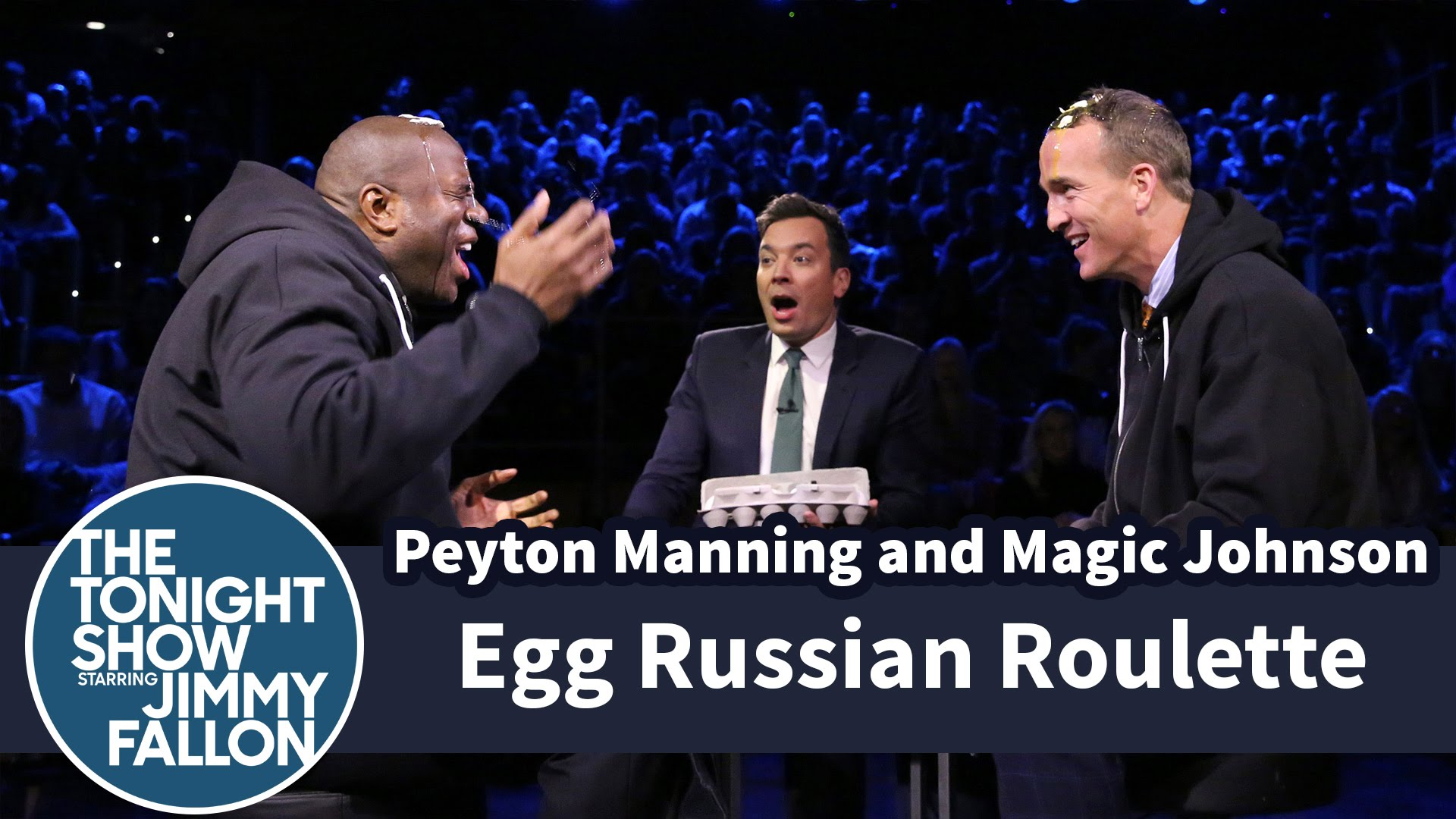 Egg Russian Roulette with Peyton Manning & Magic Johnson