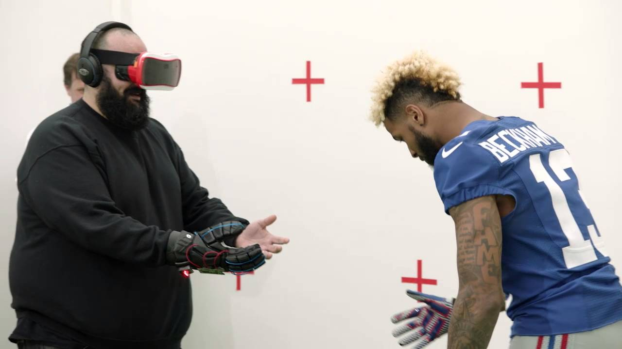 Hilarious: Odell Beckham surprises fans in virtual reality commercial