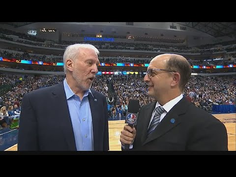 Jeff Van Gundy & Gregg Popovich with a funny exchange