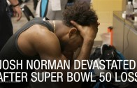 Josh Norman devastated in the locker room after SB50 loss