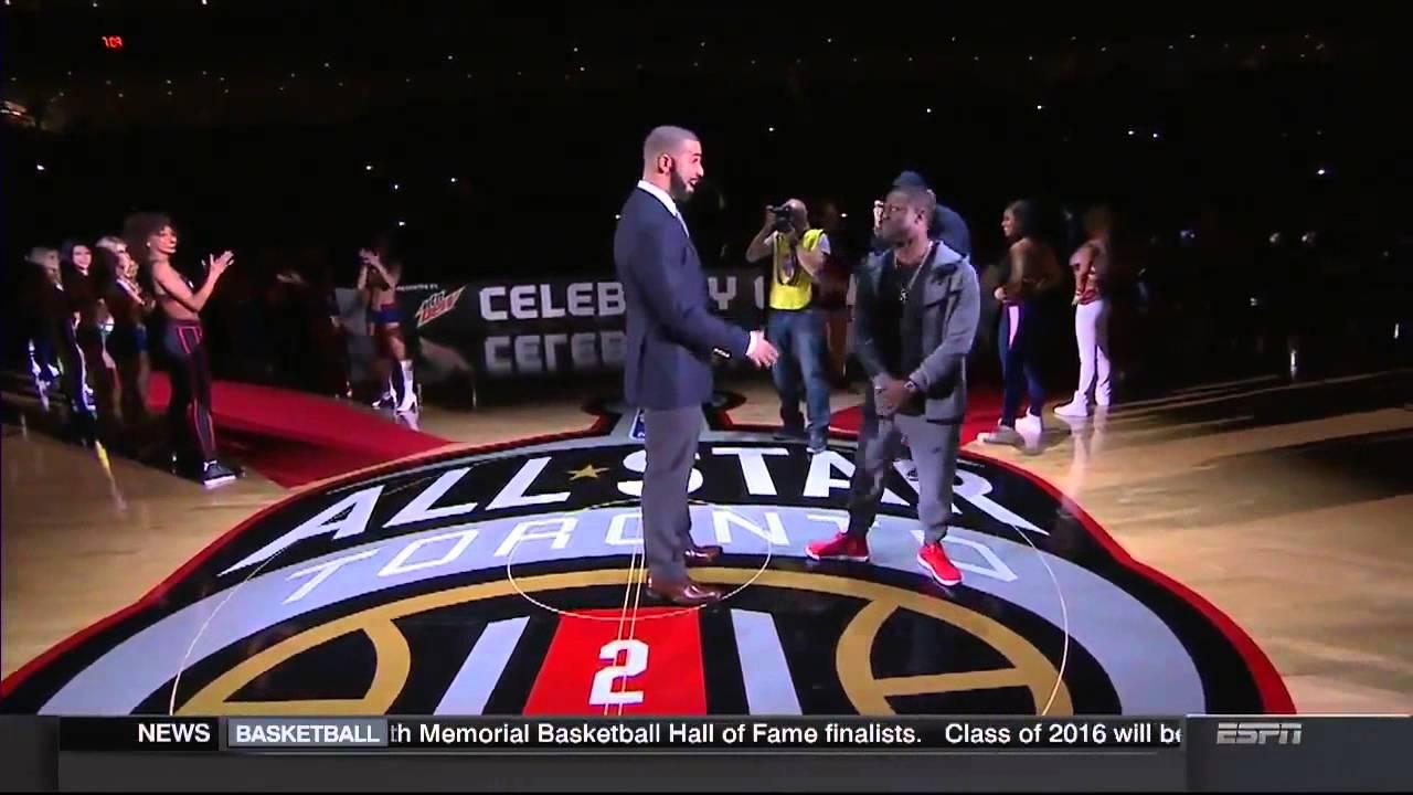 Kevin Hart snubs Drake's handshake at the Celebrity All Star game
