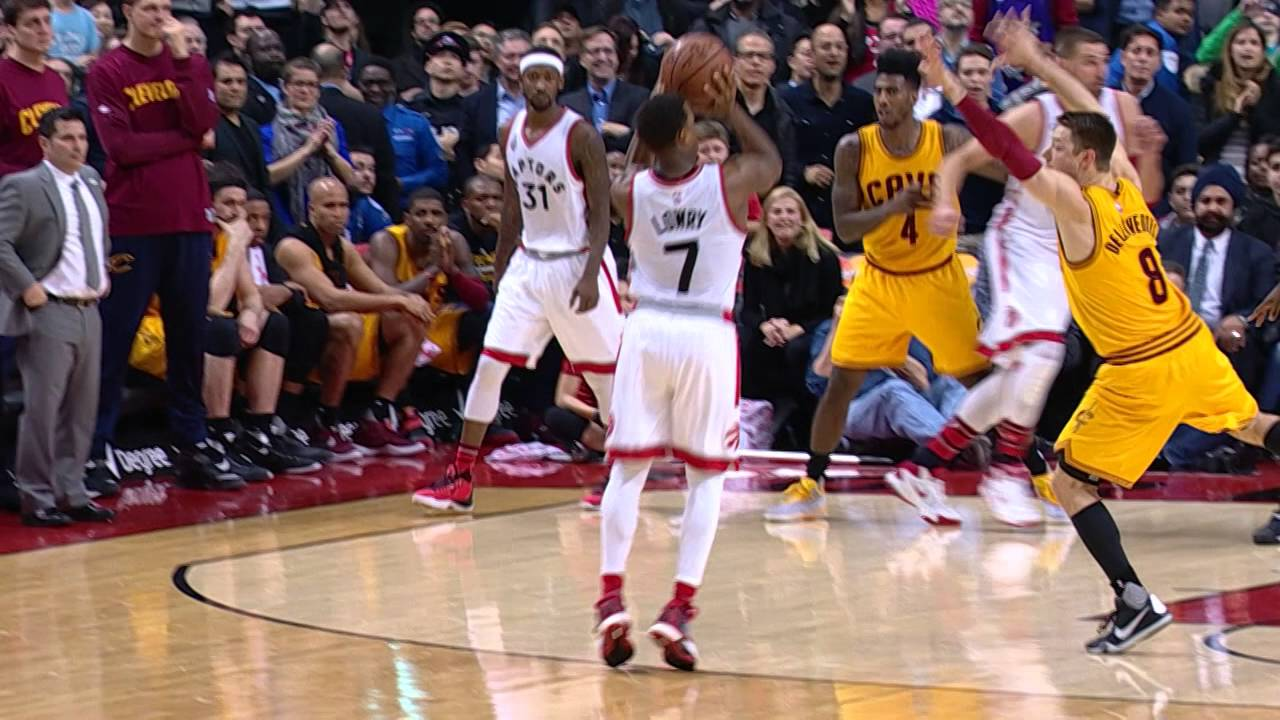 Kyle Lowry hits the game winner vs. the Cleveland Cavaliers