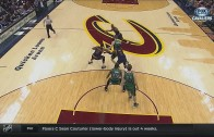 "Kyrie Irving & Tristan Thompson with ""the wedge"" defense"