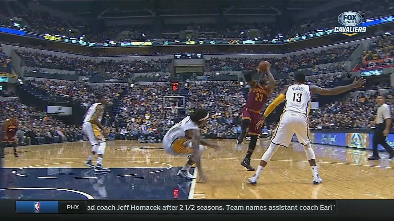 LeBron James drops Jordan Hill & hits the jumper