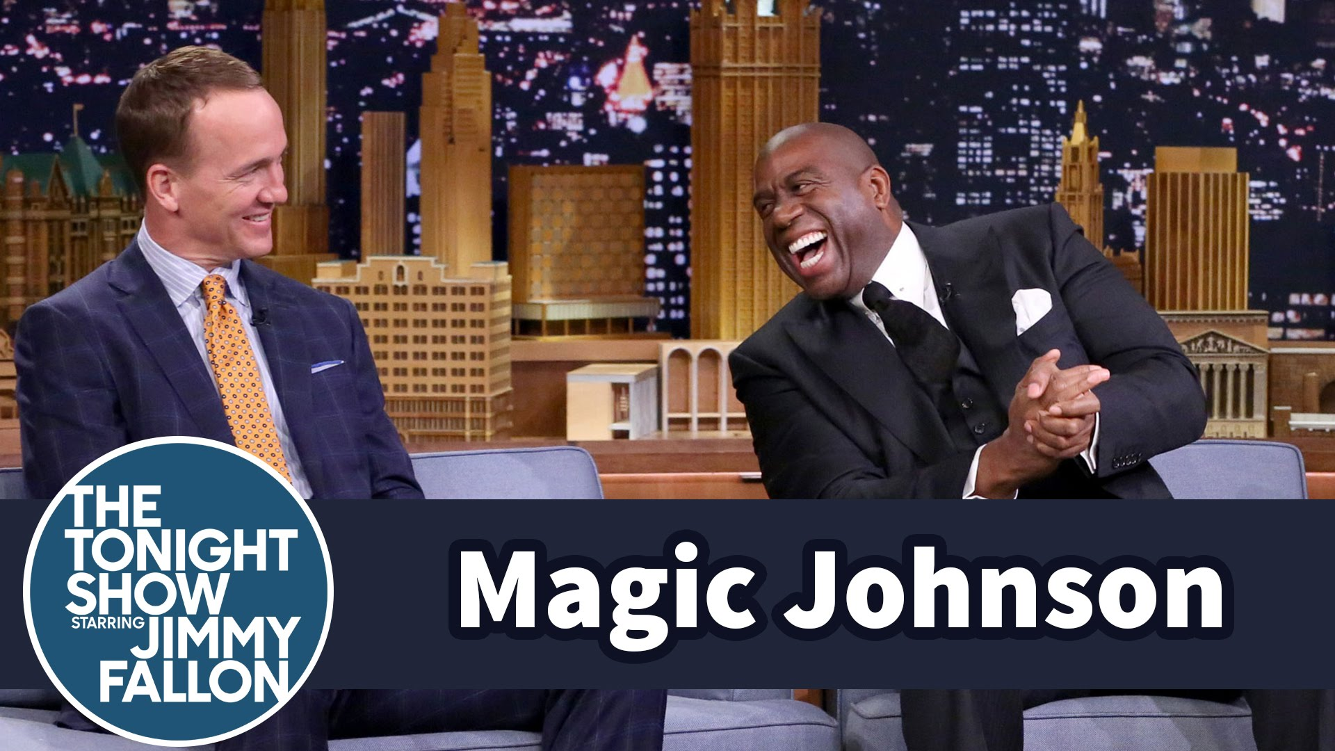 Magic Johnson pressures Peyton Manning to play for the L.A. Rams