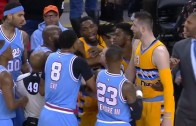 Nuggets & Kings get into a physical altercation