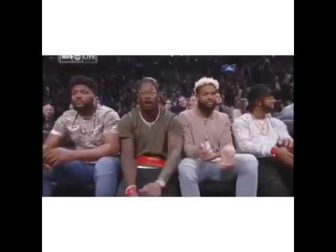 Odell Beckham & Von Miller are lit courtside at All Star