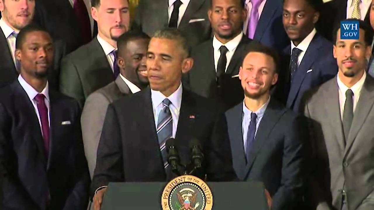 President Obama roasts the Golden State Warriors