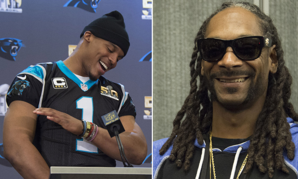 Cam Newton hits the dab for Snoop Dogg!