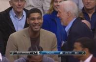 Tim Duncan & Gregg Popovich laugh at Mavs' Salah Mejri for talking trash
