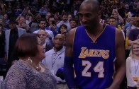 Woman fan tried to hug Kobe Bryant but got denied