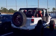 Yoenis Cespedes pulls up to Mets camp in an $80,000 Avorza Jeep