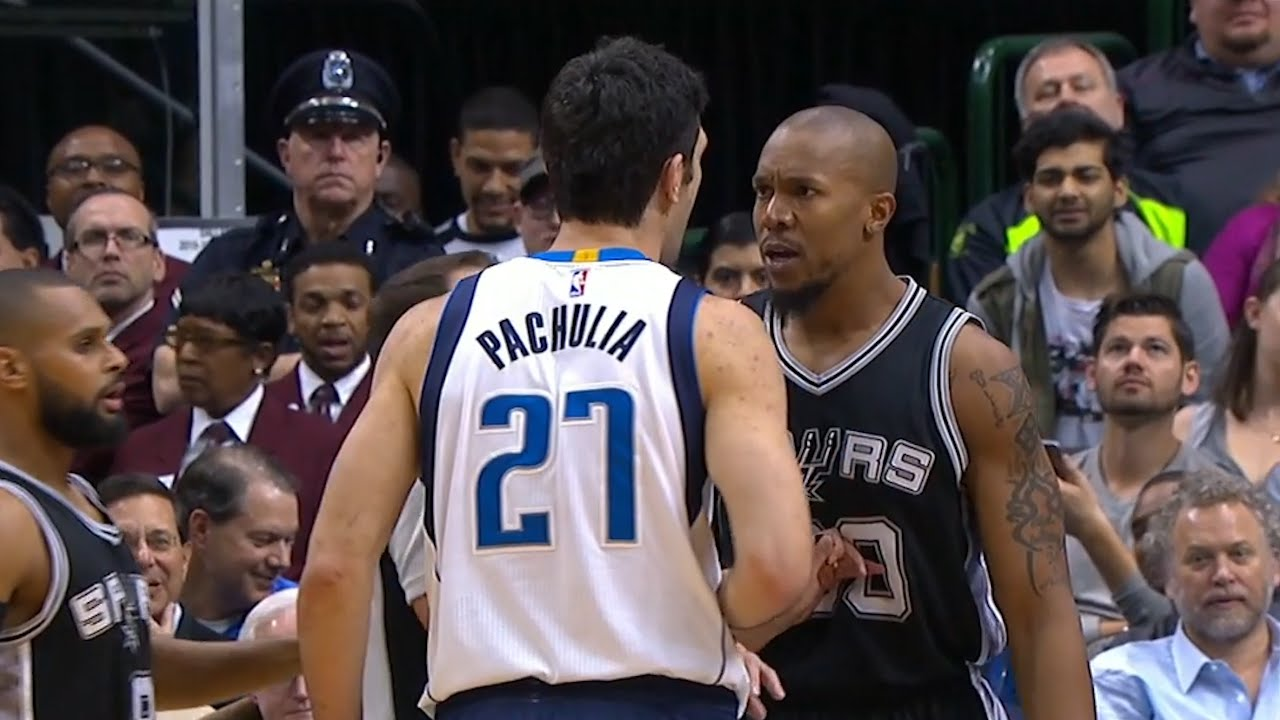 Zaza Pachulia & David West get into face to face altercation