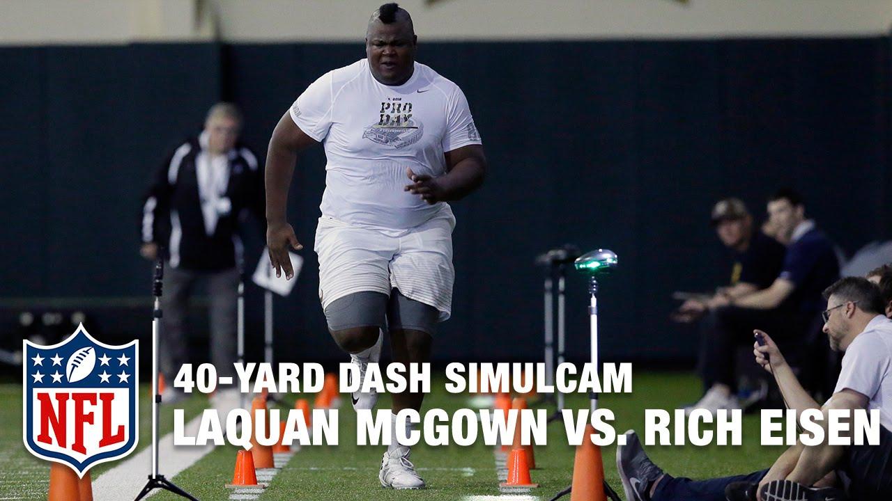 405-Pound Baylor tight end LaQuan McGowan runs a 5.48 fourty time