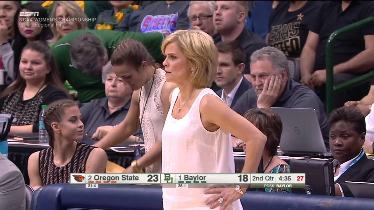 Baylor women's coach throws jacket in a fit of a rage
