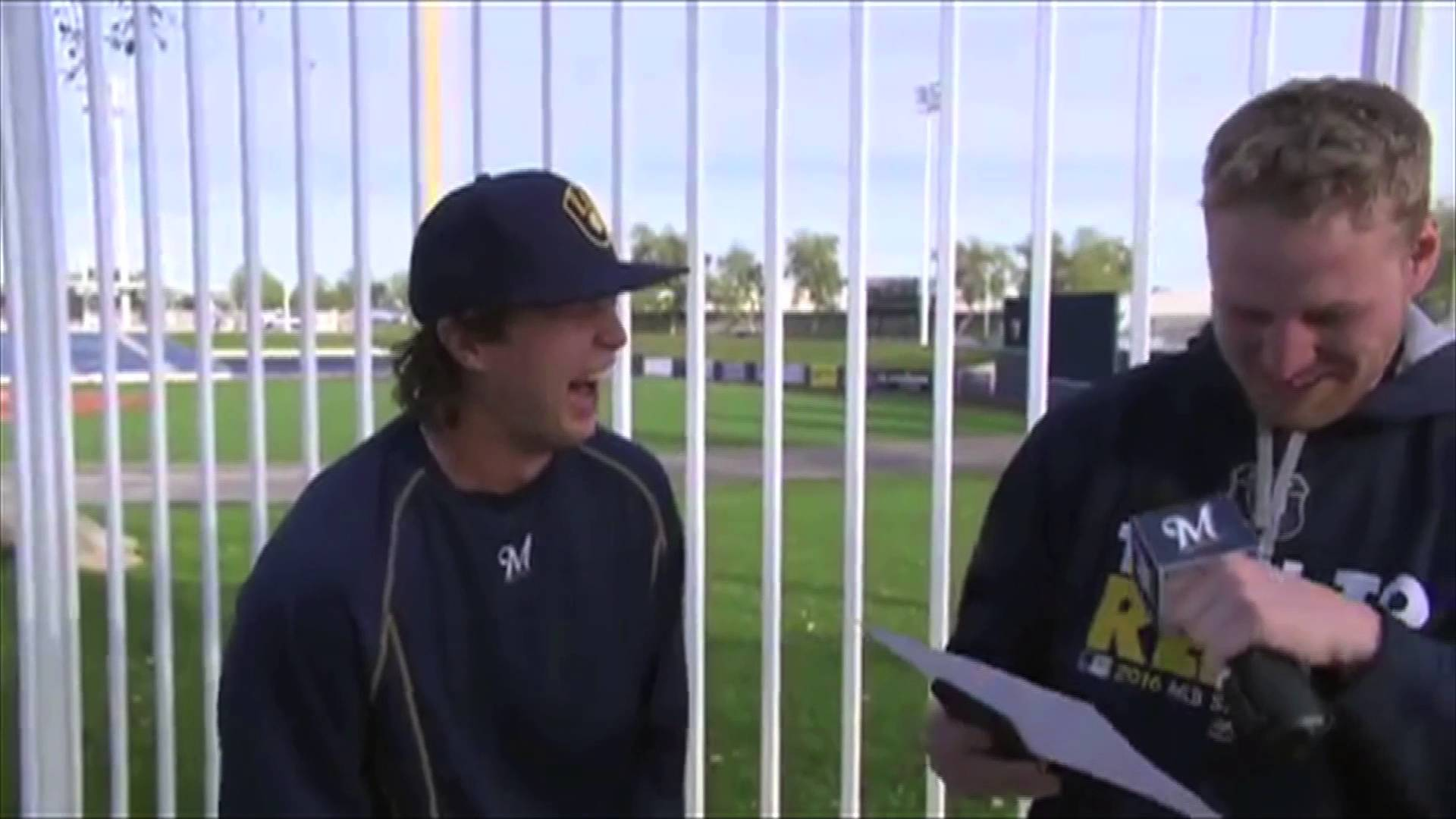 Brewers' Brett Phillips has the funniest laugh we've ever heard