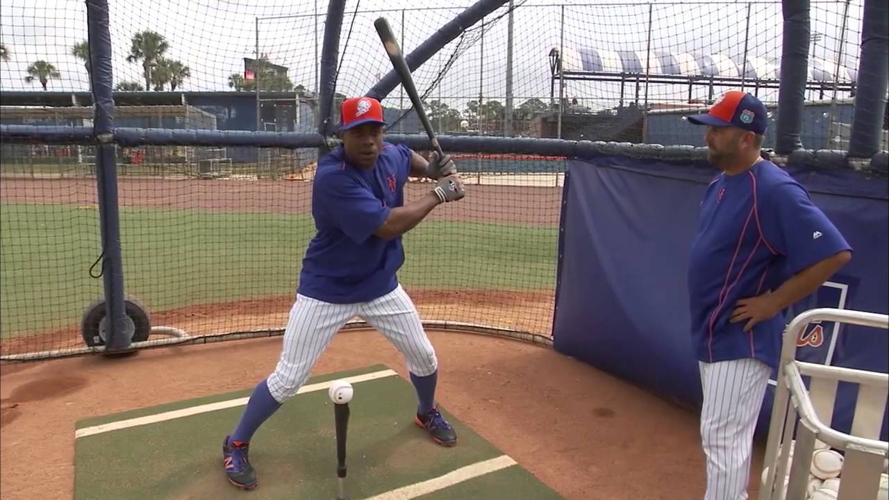 Curtis Granderson speaks on how to hit off a tee properly