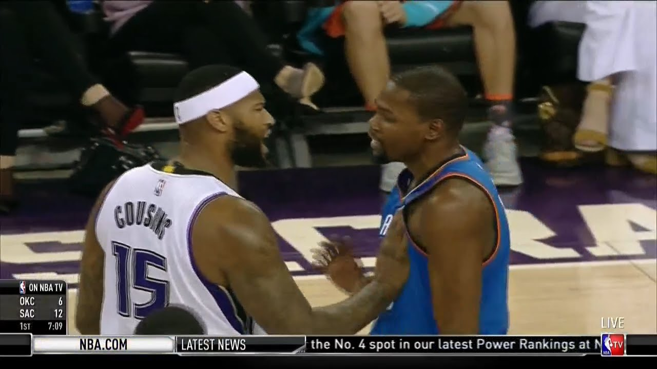 DeMarcus Cousins & Kevin Durant get into it