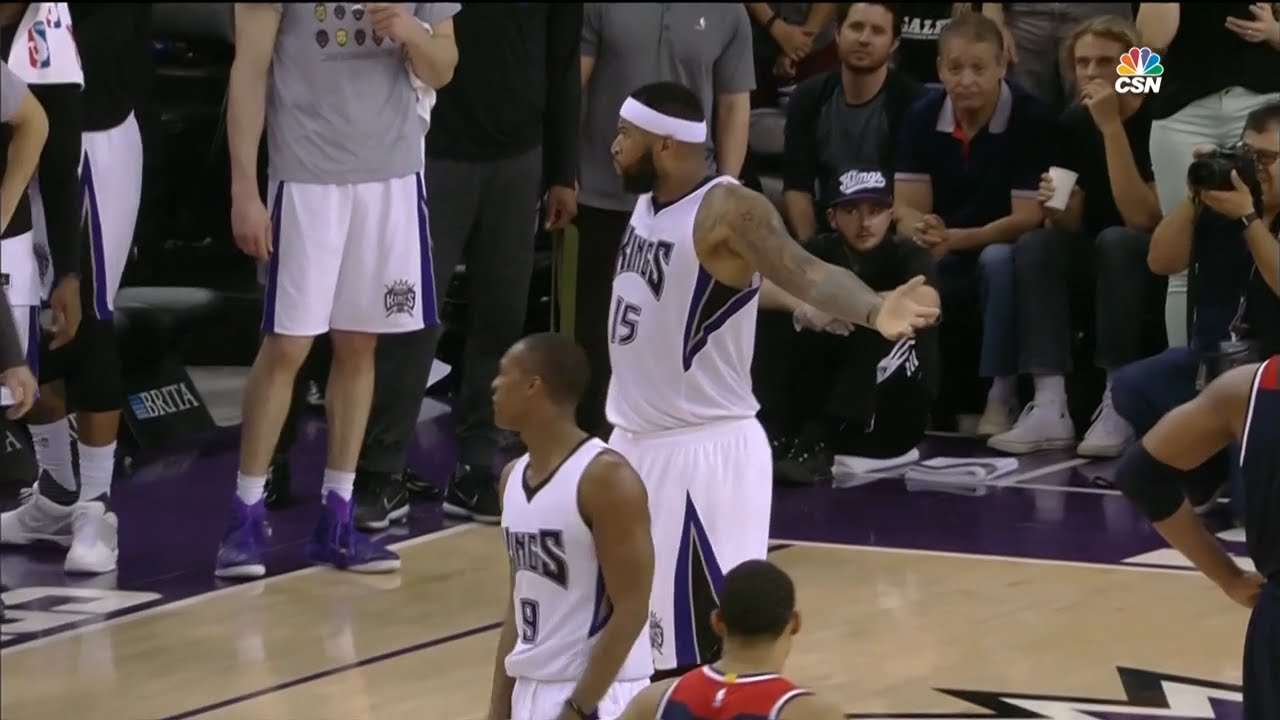 DeMarcus Cousins & Rajon Rondo both got T'd up at the same time