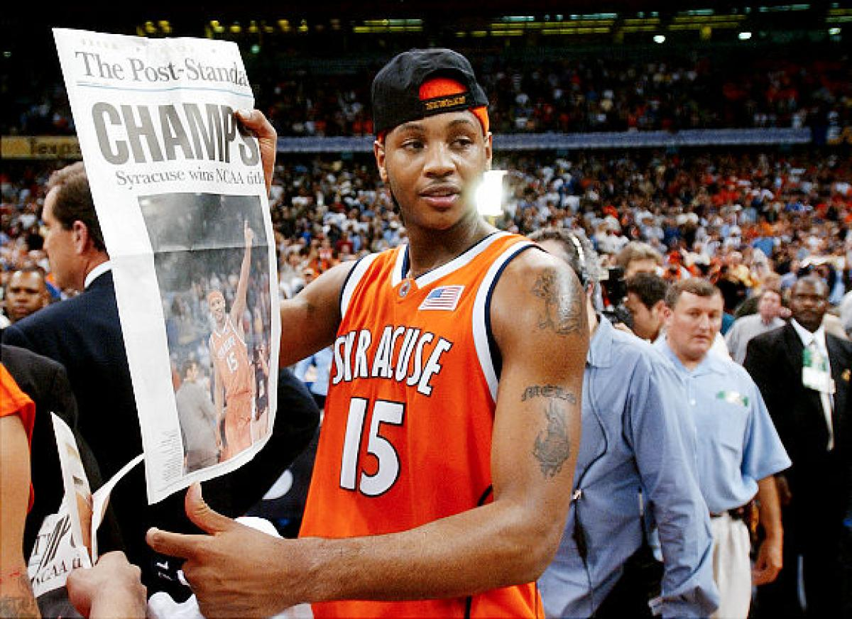 Carmelo Anthony fired up over Syracuse advancing to Final Four