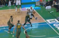 Isaiah Thomas with an incredible no look alley oop finish