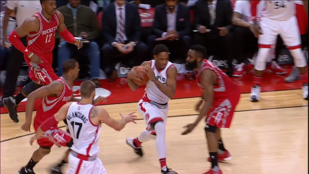 James Harden with pathetic defense vs. the Raptors